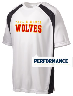 Paul H Huber Middle School Wolves Men's Dry Zone Colorblock T-Shirt