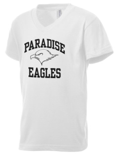 Paradise Intermediate School Eagles Kid's V-Neck Jersey T-Shirt