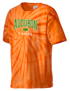 Audubon Junior High School Eagles Kid's Tie-Dye T-Shirt