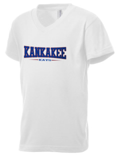 Kankakee Junior High School Warriors Kid's V-Neck Jersey T-Shirt