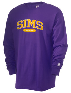 Sims Junior High School Tigers  Russell Men's Long Sleeve T-Shirt