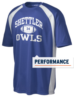 Shettler Elementary School Owls Men's Dry Zone Colorblock T-Shirt
