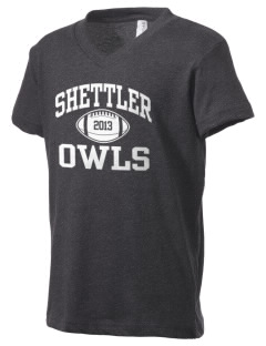 Shettler Elementary School Owls Kid's V-Neck Jersey T-Shirt