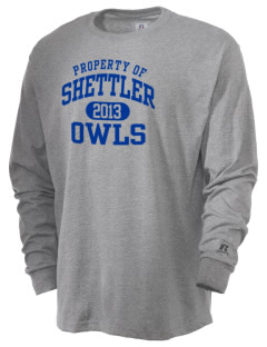 Shettler Elementary School Owls  Russell Men's Long Sleeve T-Shirt