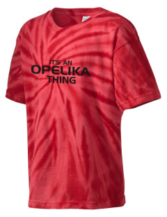 Opelika High School Bulldogs Kid's Tie-Dye T-Shirt