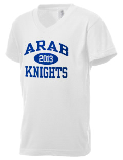 Arab High School Knights Kid's V-Neck Jersey T-Shirt