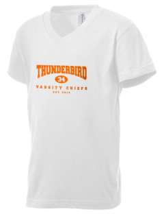 Thunderbird High School Chiefs Kid's V-Neck Jersey T-Shirt
