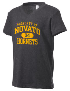 Novato High School Hornets Kid's V-Neck Jersey T-Shirt