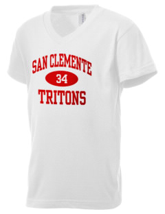 San Clemente High School Tritons Kid's V-Neck Jersey T-Shirt