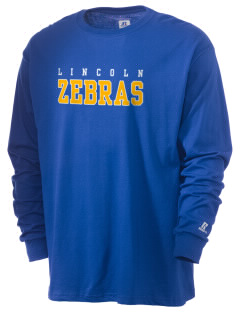 Lincoln High School Zebras  Russell Men's Long Sleeve T-Shirt