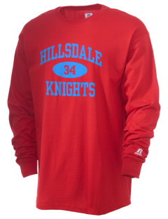 Hillsdale High School Knights  Russell Men's Long Sleeve T-Shirt