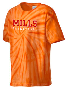 Mills High School Vikings Kid's Tie-Dye T-Shirt