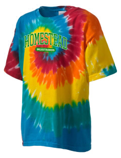 Homestead High School Mustangs Kid's Tie-Dye T-Shirt
