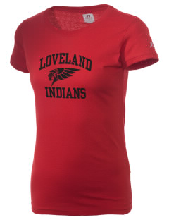 Loveland High School Indians  Russell Women's Campus T-Shirt