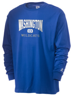 Washington High School Wildcats  Russell Men's Long Sleeve T-Shirt