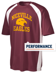 Niceville High School Eagles Men's Dry Zone Colorblock T-Shirt