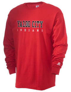 Yazoo City High School Indians  Russell Men's Long Sleeve T-Shirt