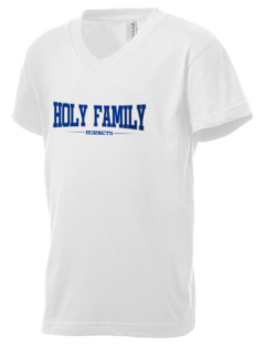 Holy Family School Hornets Kid's V-Neck Jersey T-Shirt