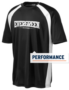 Evergreen High School Wolverines Men's Dry Zone Colorblock T-Shirt