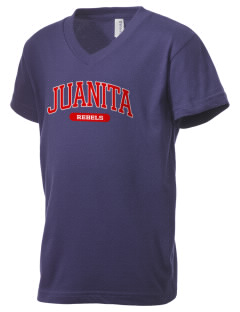 Juanita High School Rebels Kid's V-Neck Jersey T-Shirt
