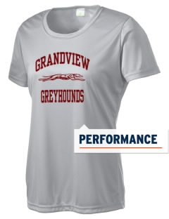 Grandview High School Greyhounds Women's Competitor Performance T-Shirt