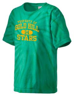 Gold Hill Elementary School Stars Kid's Tie-Dye T-Shirt