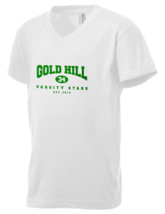 Gold Hill Elementary School Stars Kid's V-Neck Jersey T-Shirt