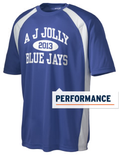 A J Jolly Elementary School Blue Jays Men's Dry Zone Colorblock T-Shirt