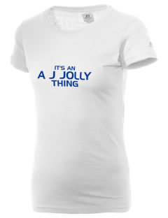 A J Jolly Elementary School Blue Jays  Russell Women's Campus T-Shirt