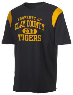 Clay County High School Tigers Holloway Men's Rush T-Shirt