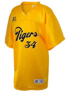 Clay County High School Tigers Russell Kid's Replica Football Jersey