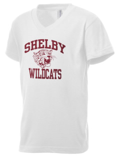Shelby Elementary School Wildcats Kid's V-Neck Jersey T-Shirt