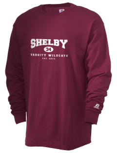 Shelby Elementary School Wildcats  Russell Men's Long Sleeve T-Shirt