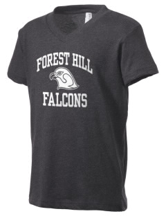 Forest Hill Elementary School Falcons Kid's V-Neck Jersey T-Shirt