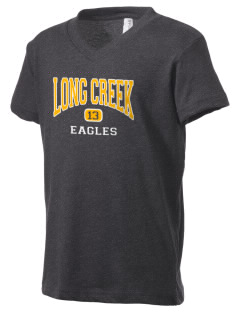 Long Creek Elementary School Eagles Kid's V-Neck Jersey T-Shirt