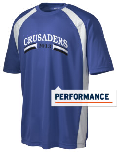 Community Christian School Crusaders Men's Dry Zone Colorblock T-Shirt