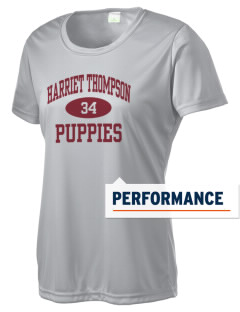 Harriet Thompson Elementary School Puppies Women's Competitor Performance T-Shirt