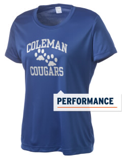 Coleman Prep School Cougars Women's Competitor Performance T-Shirt