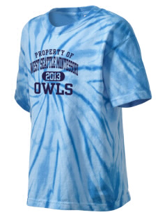 West Seattle Montessori School Globes Kid's Tie-Dye T-Shirt