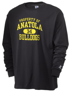 Anatola Elementx1y School Bulldogs  Russell Men's Long Sleeve T-Shirt
