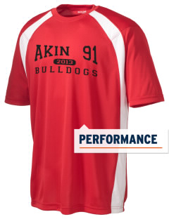 Akin Consolidated Elementary School 91 Bulldogs Men's Dry Zone Colorblock T-Shirt