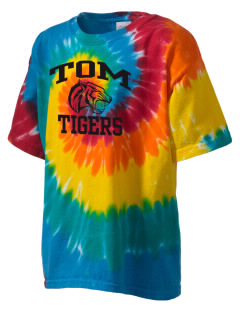 Tom Elementary School Tigers Kid's Tie-Dye T-Shirt