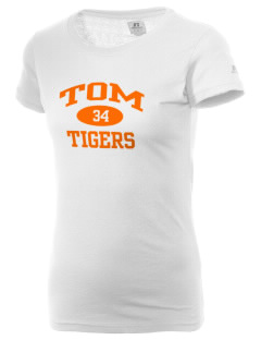 Tom Elementary School Tigers  Russell Women's Campus T-Shirt
