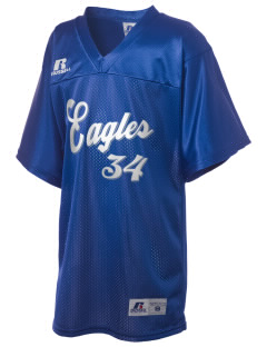 Montague Elementary School Eagles Russell Kid's Replica Football Jersey