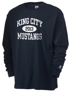 King City High School Mustangs  Russell Men's Long Sleeve T-Shirt