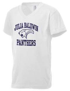 Julia Baldwin Elementary School Panthers Kid's V-Neck Jersey T-Shirt