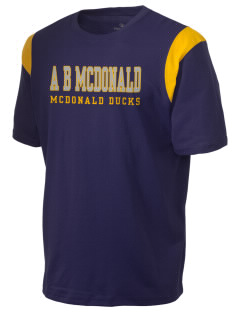 A B McDonald Elementary School McDonald Ducks Holloway Men's Rush T-Shirt