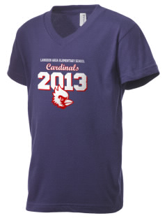 Langdon Area Elementary School Cardinals Kid's V-Neck Jersey T-Shirt