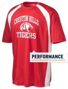 Creston Hills Elementary School Tigers Men's Dry Zone Colorblock T-Shirt