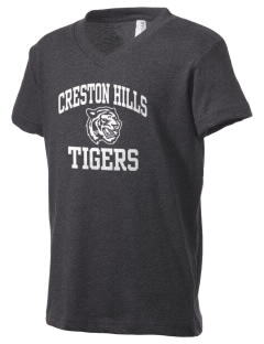 Creston Hills Elementary School Tigers Kid's V-Neck Jersey T-Shirt